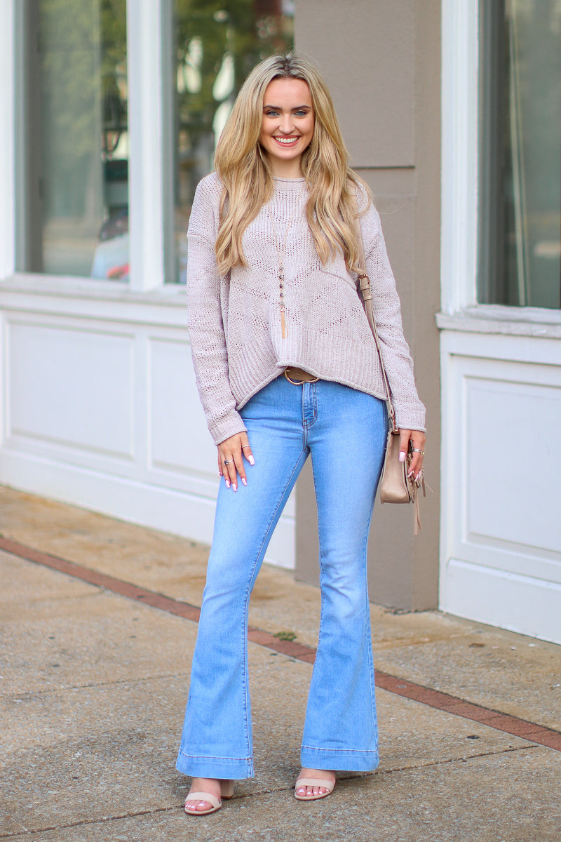 With or Without You Flare Jeans - FINAL SALE - Madison and Mallory