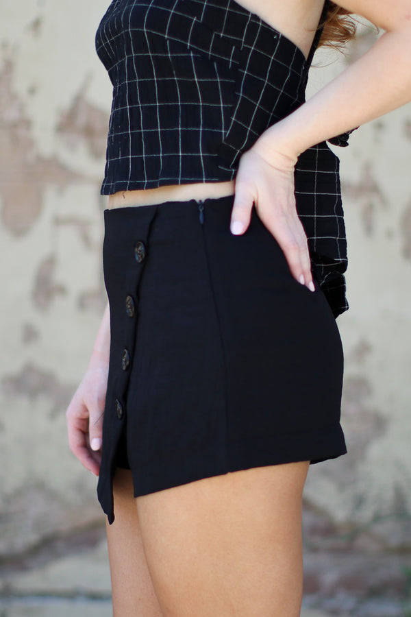 Button Detail Shorts - Madison + Mallory