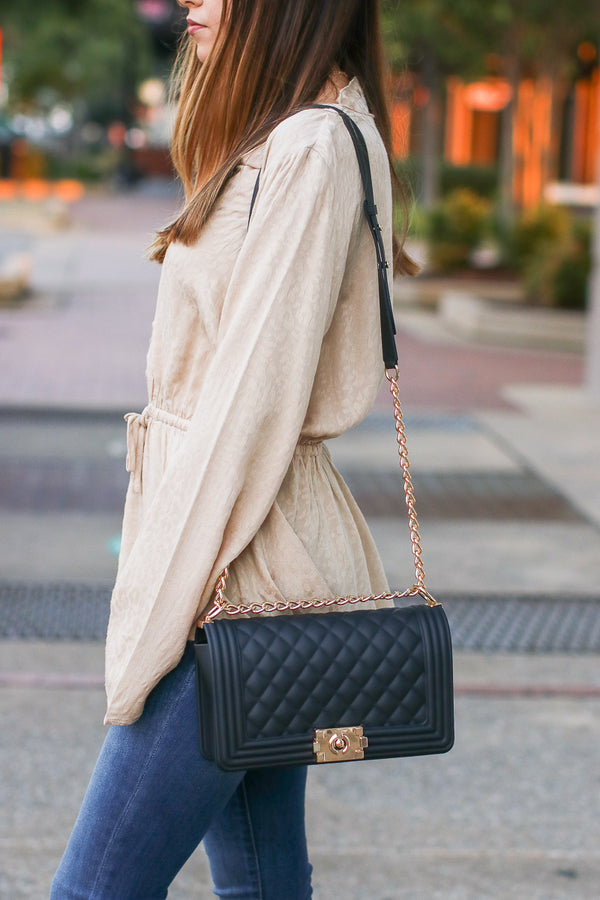 Smooth Talker Quilted Chain Bag - Madison + Mallory