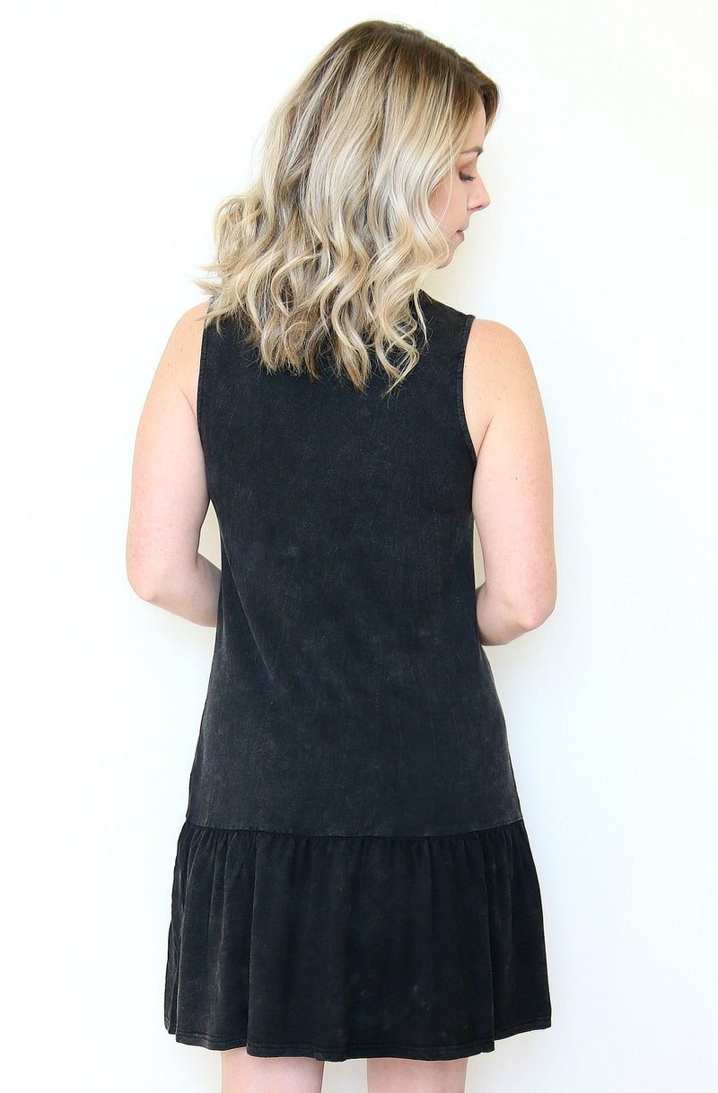 High Neck Ruffle Hem Dress - Madison + Mallory