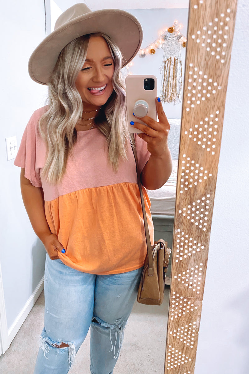 S / Cream Tropical Off Shoulder Top - Madison + Mallory
