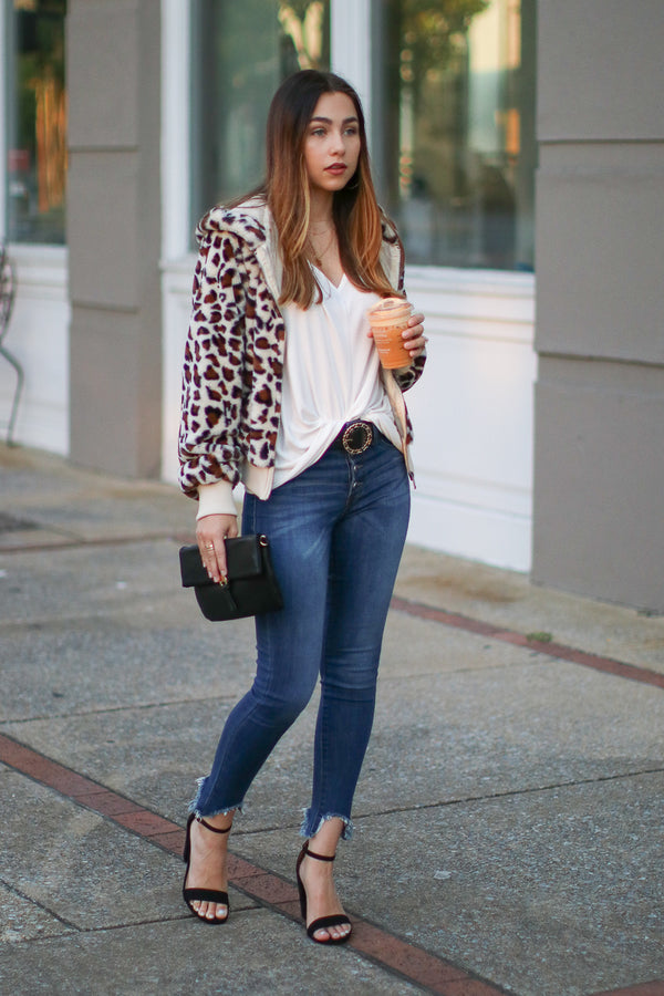 Perfect Print Leopard Jacket - Madison + Mallory