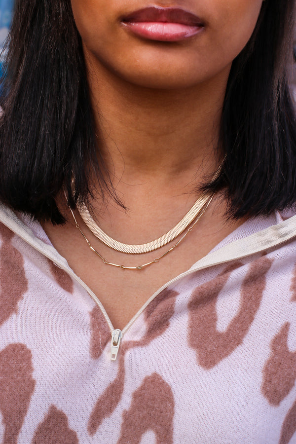 Gold Tempt Me Layered Chain Necklace - Madison and Mallory