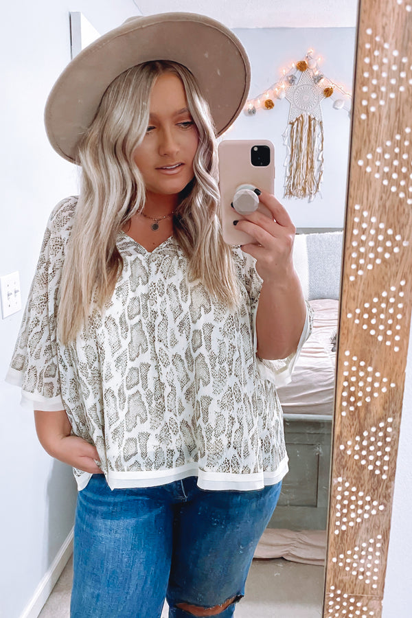 S / Cream Days Like These Animal Print Top - Madison and Mallory
