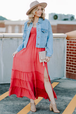 Enduring Details Ruffle Maxi Dress - FINAL SALE - Madison and Mallory