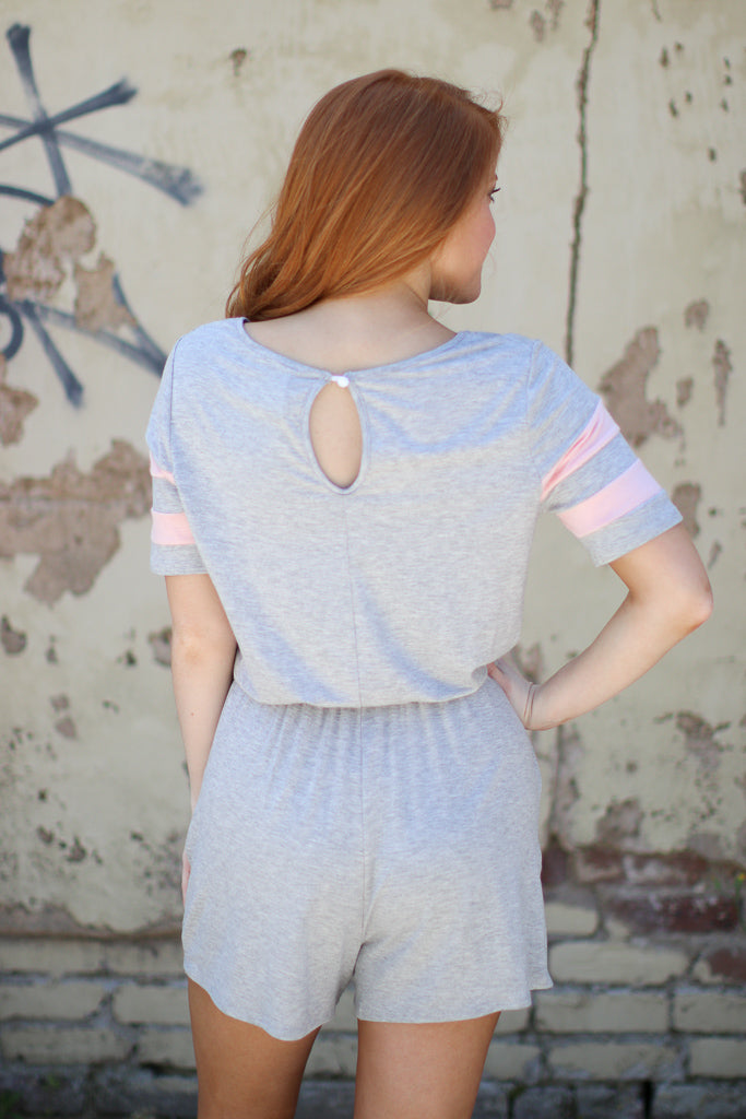 Color Block Varsity Romper - Madison + Mallory