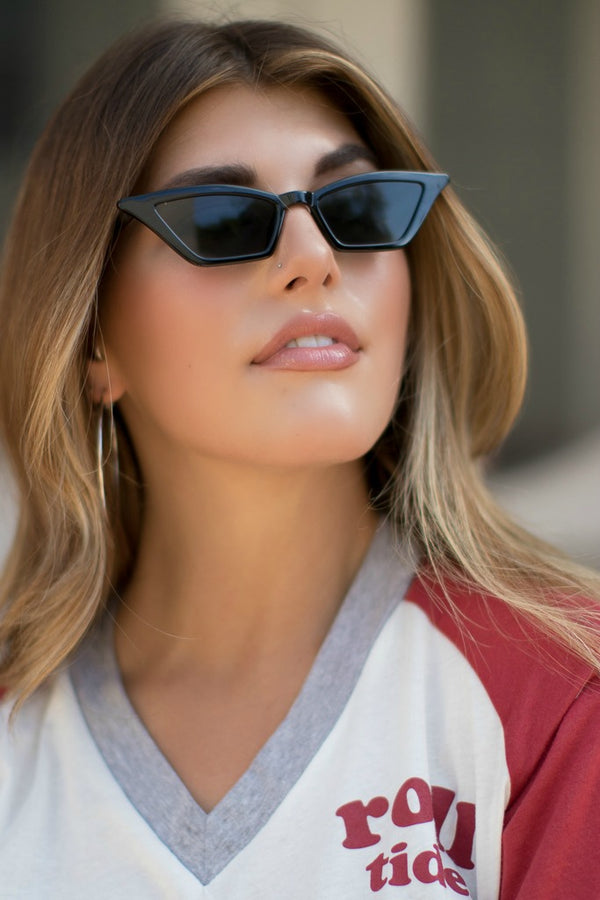 OS / Black On Point Sunglasses - Madison + Mallory
