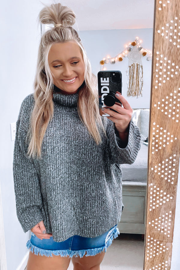 Charcoal / S Lelani Knit Sweater - Madison and Mallory
