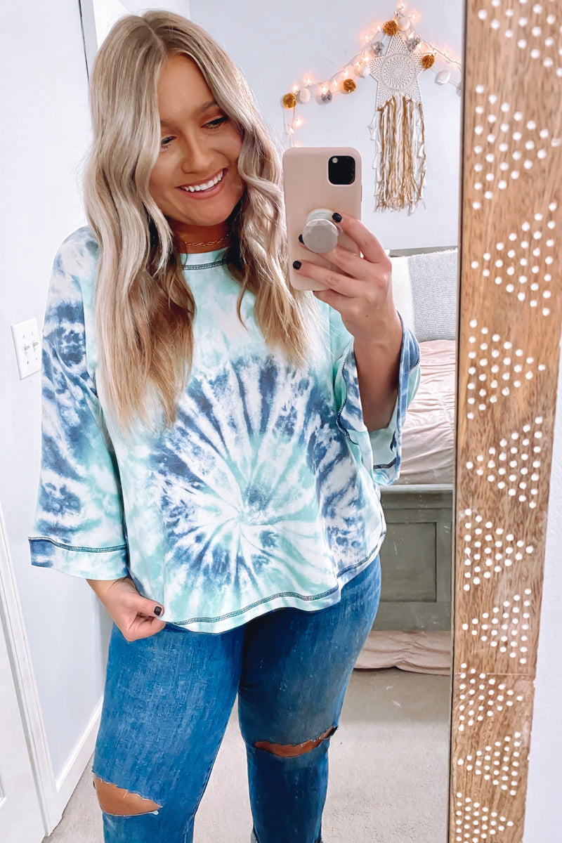 Mythical Tie Dye Bell Sleeve Top - Madison and Mallory