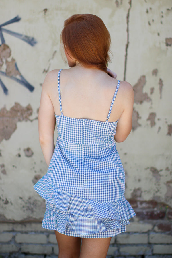 Gingham Wrap Dress - Madison + Mallory