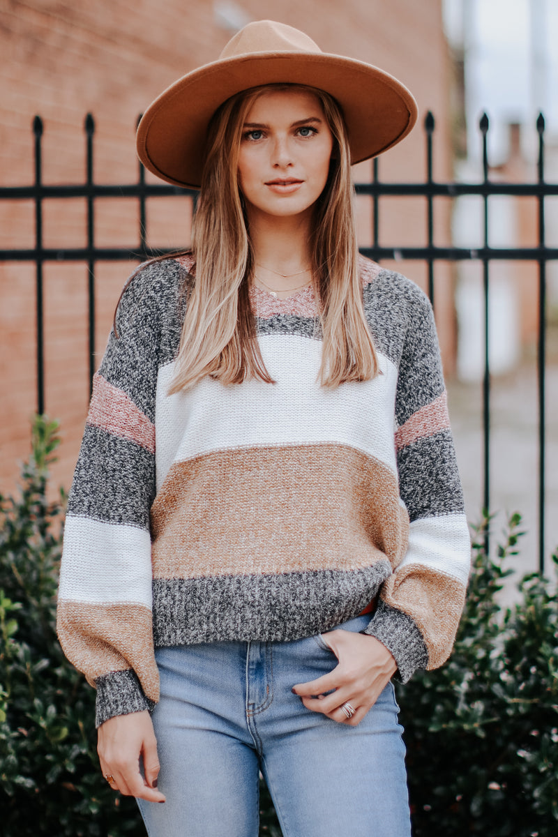 Effortless Ease Multi Color Striped Sweater - Madison and Mallory