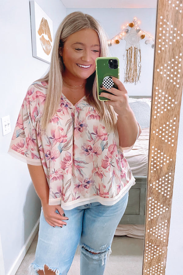 Kiss From a Rose Flowy Top - Madison and Mallory