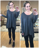 Thumb Hole Flowy Long Sleeved Top