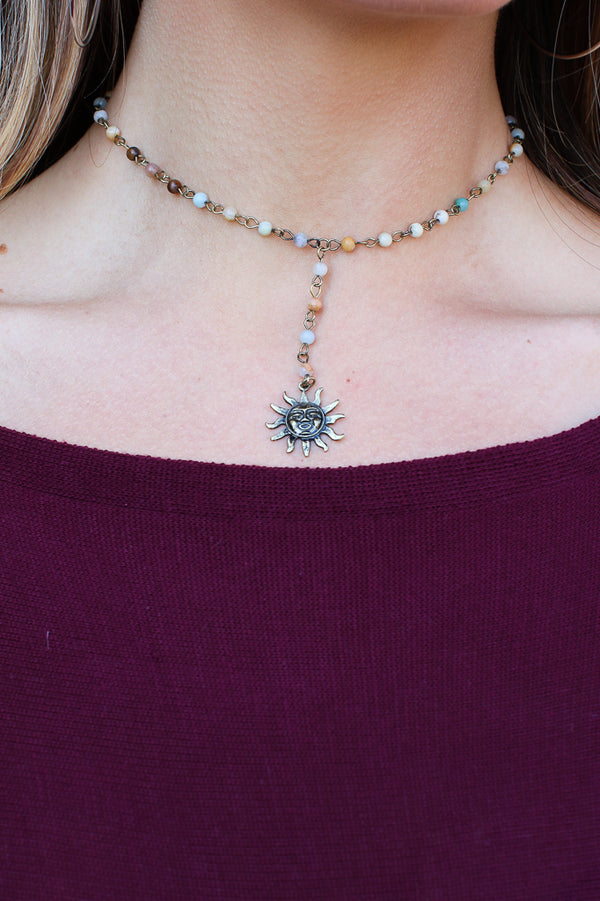 Amazonite Golden Sunshine Necklace + MORE COLORS - Madison + Mallory