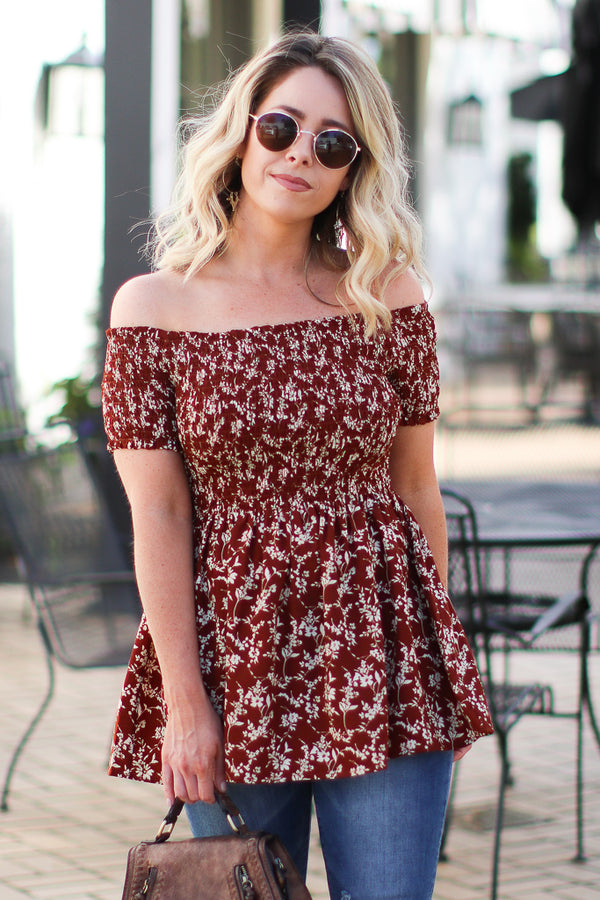 Sienna / S Marta Floral Smocked Top - Sienna - Madison + Mallory