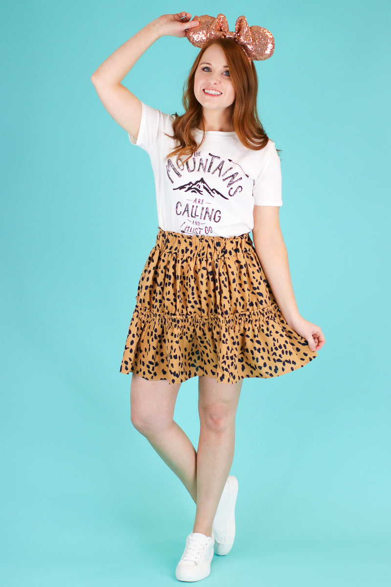 Act Wildly Tiered Leopard Skirt - Madison and Mallory