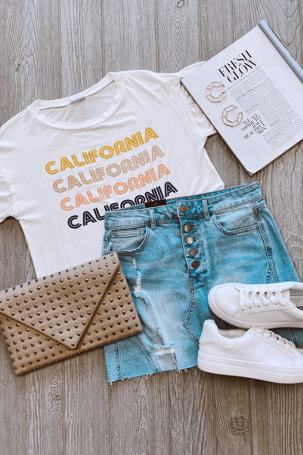 California Vintage Graphic Top - Madison and Mallory