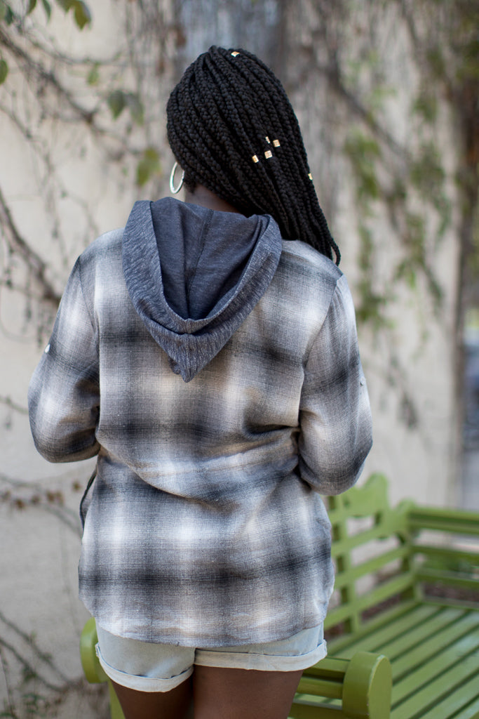 Falling for Flannel Hoodie - Madison + Mallory
