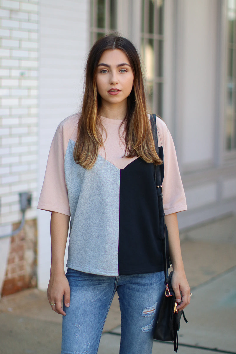 Worldwide Color Block Geo Top - FINAL SALE - Madison + Mallory