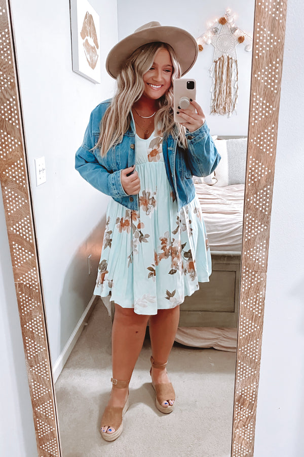 Planted Dreams Bell Sleeve Floral Dress