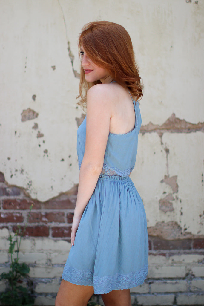 Lace Trim Tank Dress - Madison + Mallory