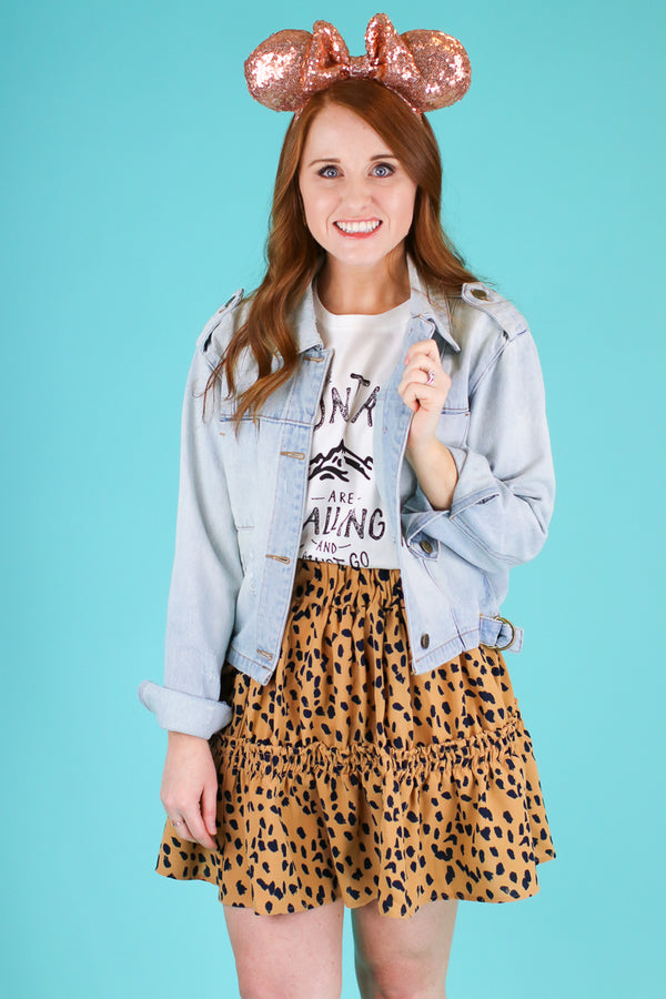 Act Wildly Tiered Leopard Skirt - FINAL SALE - Madison and Mallory