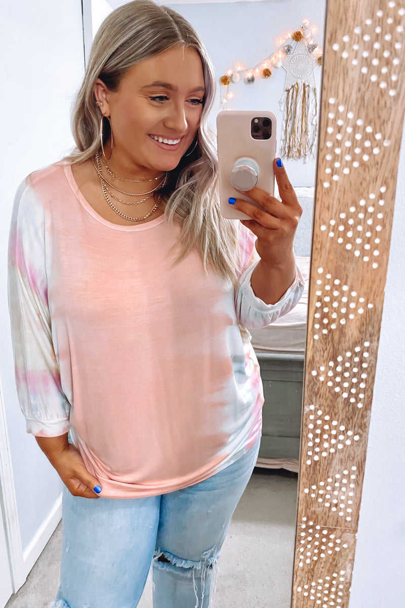 Slow Fade Tie Dye Raglan Tunic Top - FINAL SALE - Madison and Mallory