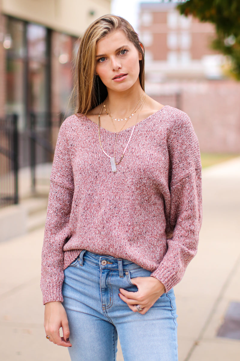 Margate V-Neck Oversize Sweater - Madison and Mallory