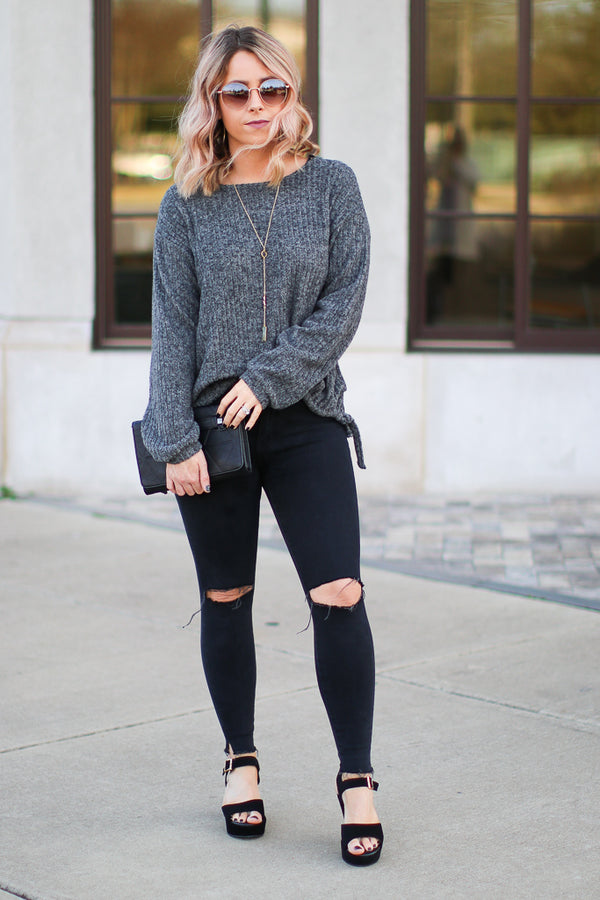 Jane Ribbed Knit Top - Madison + Mallory