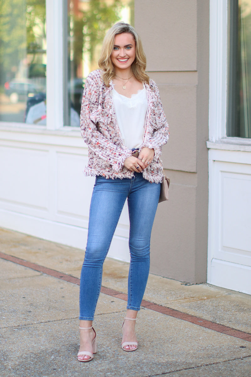 Chick Flick Fringe Cardigan - FINAL SALE - Madison and Mallory