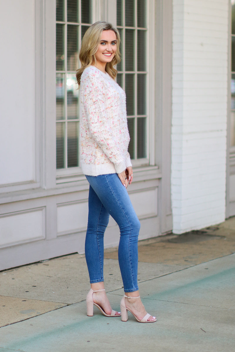 Totally Clueless Textured Knit Sweater - Madison + Mallory