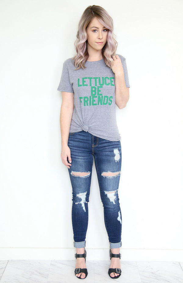 1 Vintage Wash Destroy Crop Skinnies - Madison + Mallory