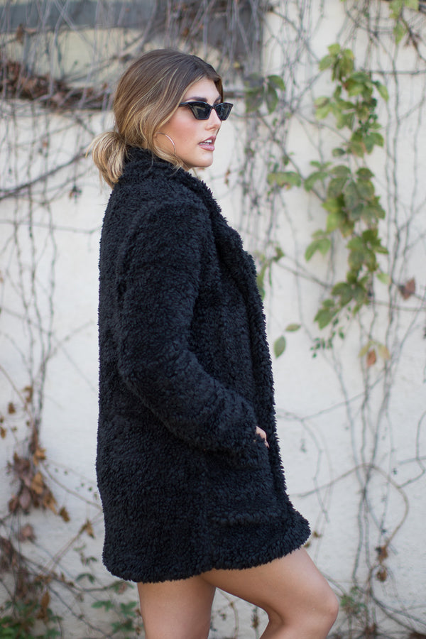 Cozy Vibes Fuzzy Jacket - Madison + Mallory