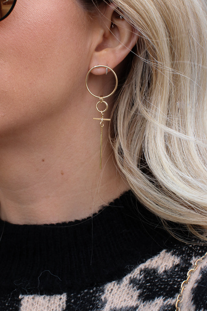 Gold Keep Me In Mind Cross Earrings + MORE COLORS - Madison + Mallory