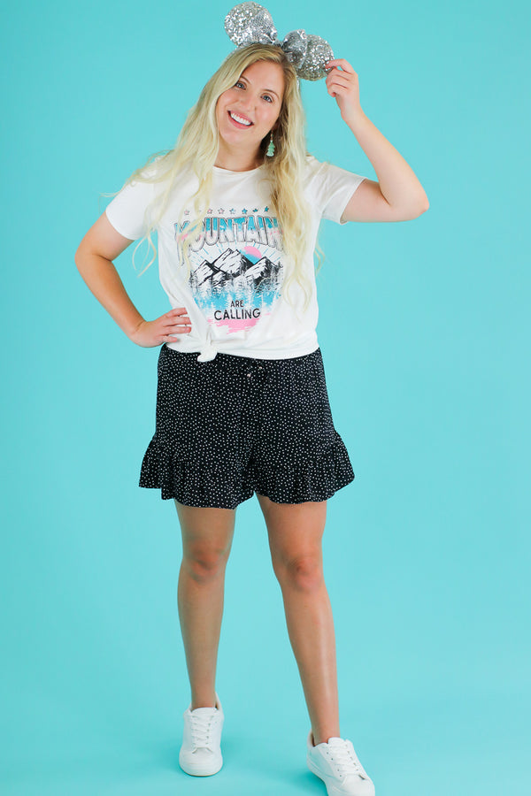 Point Made Polka Dot Ruffle Shorts - FINAL SALE - Madison and Mallory
