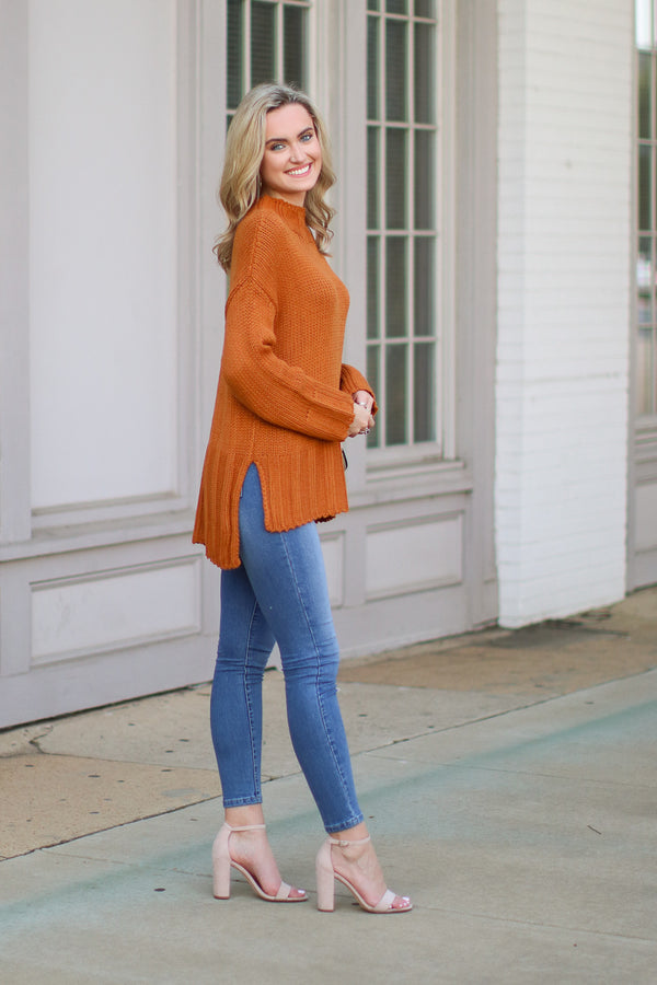 S / Blush Adalynn Fringe Hem Sweater Poncho - Madison + Mallory