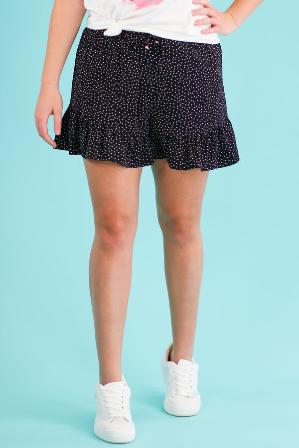 S / Black Point Made Polka Dot Ruffle Shorts - Madison and Mallory