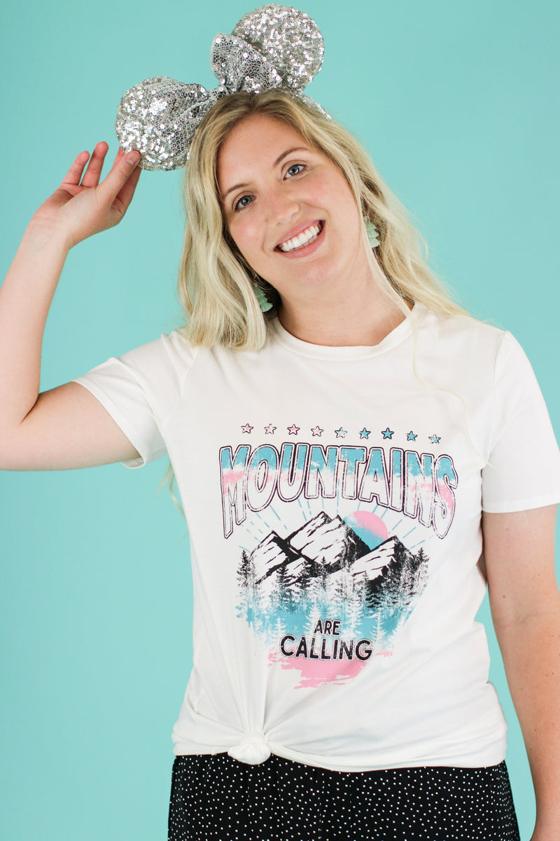Mountains are Calling Graphic Top - Madison and Mallory