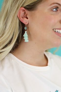 Mint Love You Forever Tassel Earrings - Madison and Mallory
