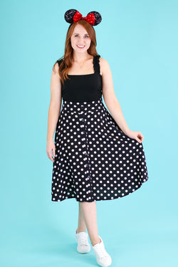 M / Black Dots of You Polka Dot Skirt - Madison and Mallory