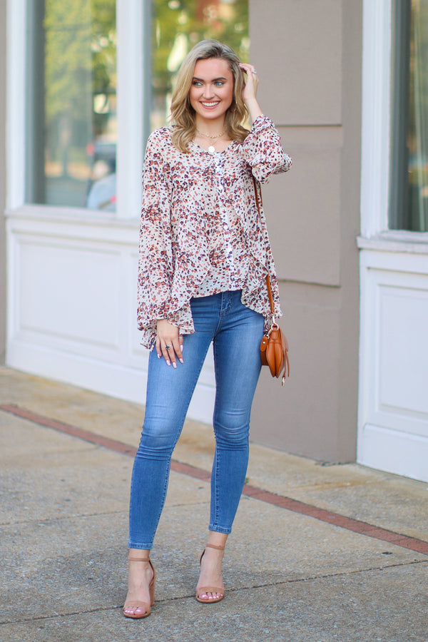 Blooming Love Ruffle Floral Top - Madison + Mallory