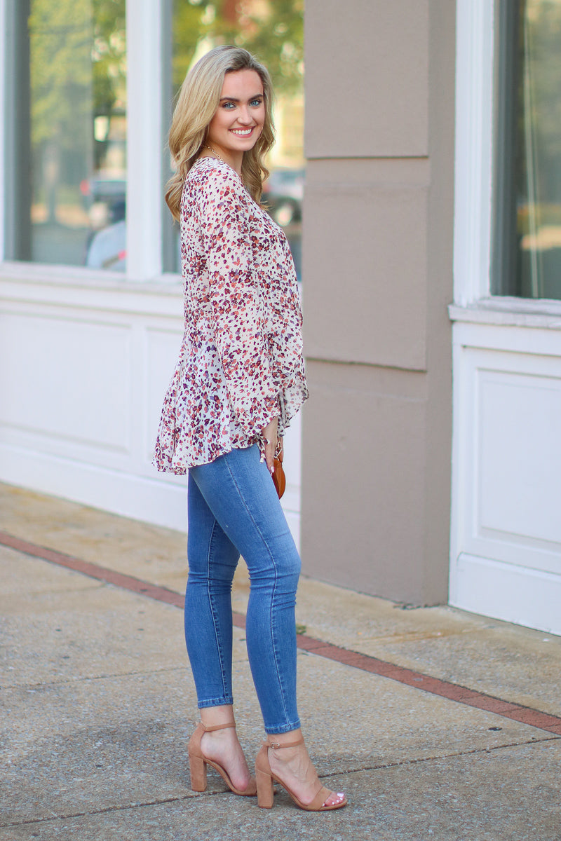 Blooming Love Ruffle Floral Top - FINAL SALE - Madison and Mallory