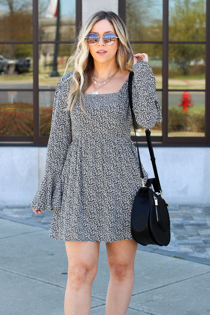 Everybody Knows Bell Sleeve Floral Dress - Madison + Mallory