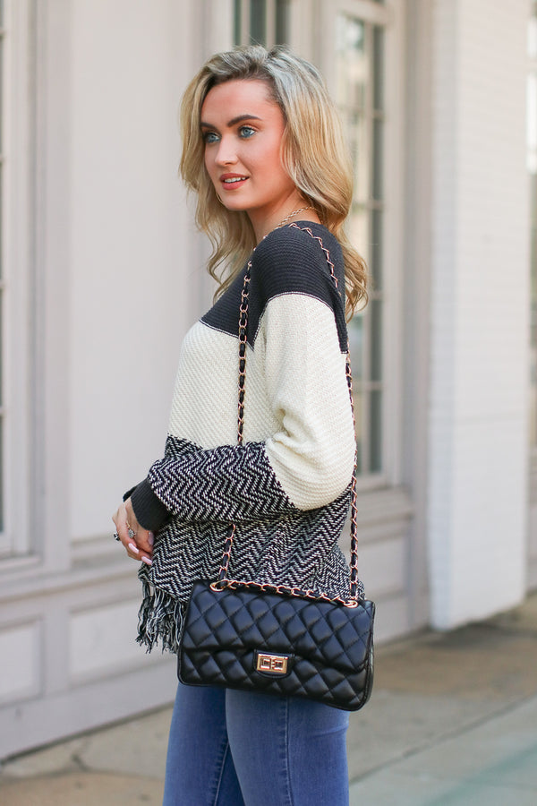 Cosmopolitan Quilted Chain Bag - Madison + Mallory