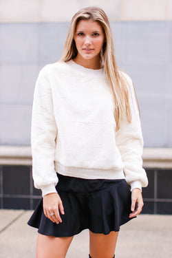 Ivory / S Hendon Faux Fur Pullover - Madison and Mallory