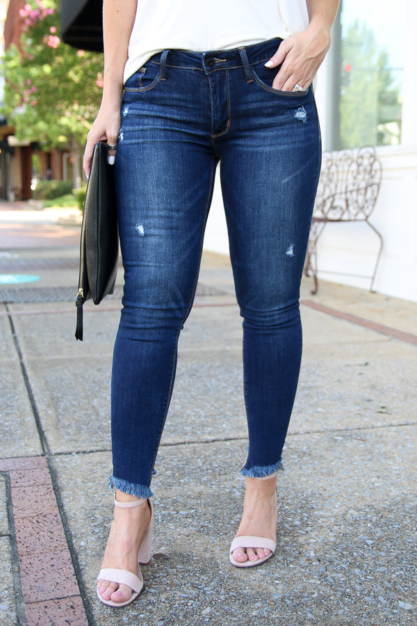 1 / Dark Make the Moment Distressed Jeans - Madison + Mallory
