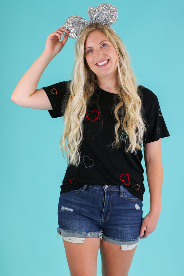 Heart of the Matter Embroidered Top - Madison and Mallory
