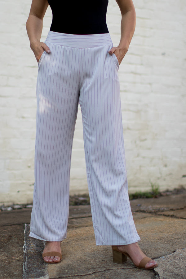 Emmaline Striped Pants - Madison + Mallory