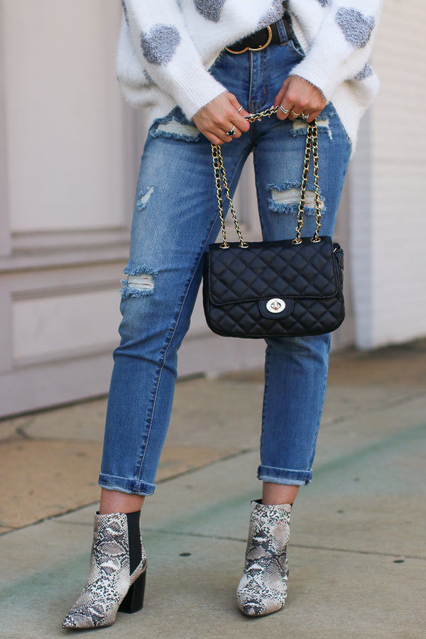Mon Amour Quilted Chain Bag - Madison + Mallory