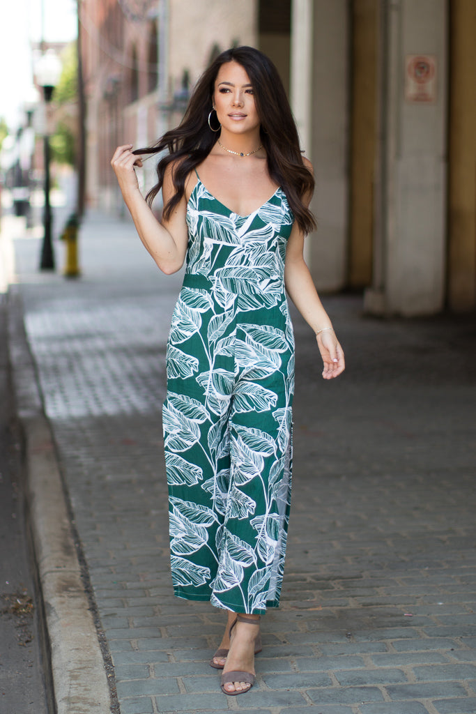 Palm Paradise Jumpsuit - Madison + Mallory